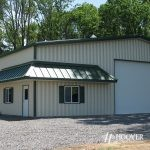 Equipment Storage Building Green Trim