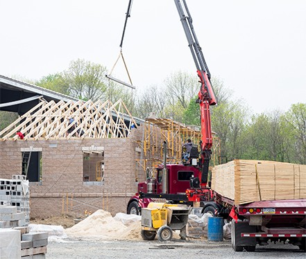 commercial construction company at work in southeastern pennsylvania