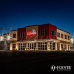 outdoor lighting on newly constructed buildings