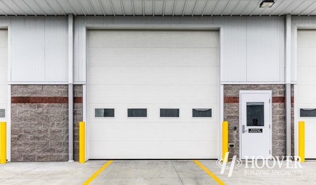 attached garage to commercial building