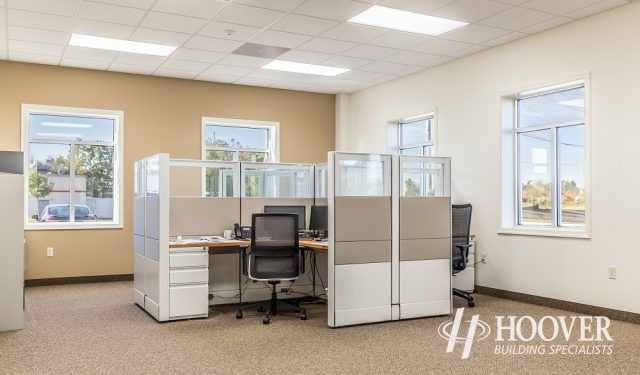 office cubicle in new office