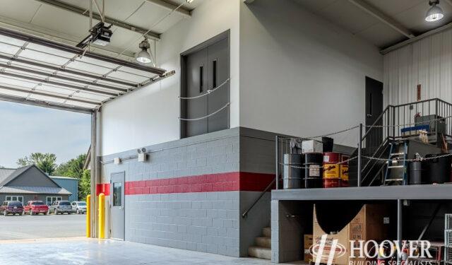 interior shot of completed risser poultry storage garage