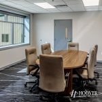 view of office conference room with marble flooring