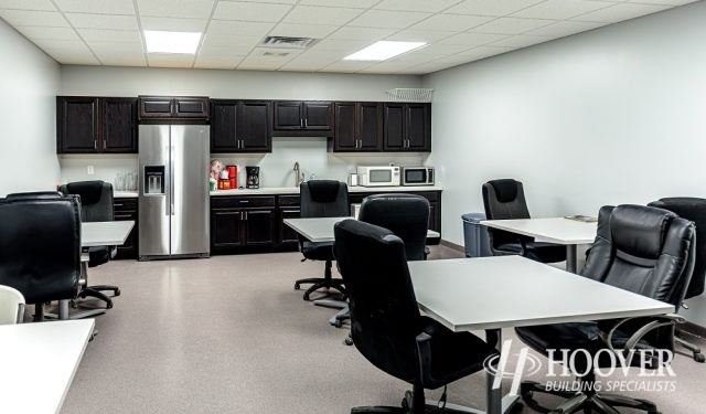view of newly created office breakroom space