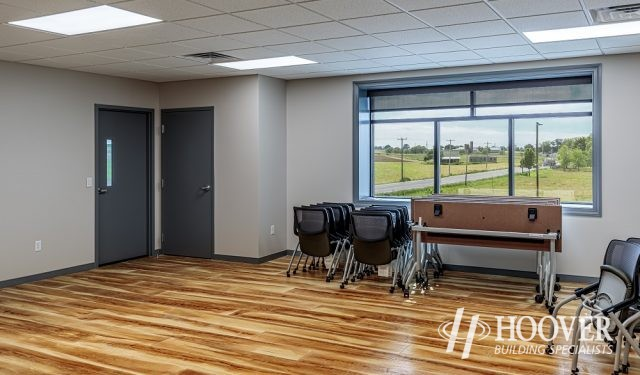 newly built wooden floors and office space